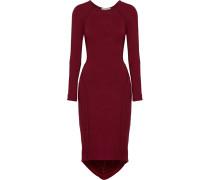 Freje Asymmetric Stretch-modal Jersey Dress Burgunder