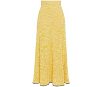 Sally Mélange Ribbed-knit Midi Skirt