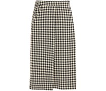 Checked Tweed Wrap Skirt