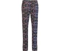 Nina Printed Mid-rise Slim-leg Jeans Mitternachtsblau