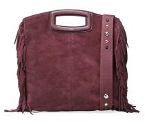 Fringed Suede Shoulder Bag Burgunder