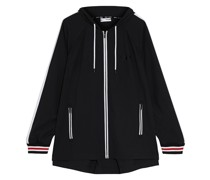 Striped Stretch-shell Hooded Jacket