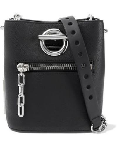 Riot Pebbled-leather Bucket Bag Black Size --