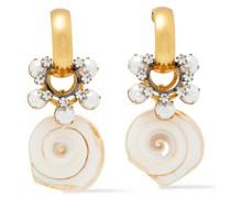 24 Kt. Verete Ohrringe mit Hämatitbeschichtung und Verschiedenen Steinen