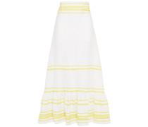 Rickrack-trimmed Linen Maxi Skirt
