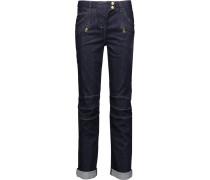 Mid-rise Boyfriend Jeans Dunkler Denim
