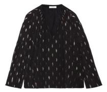 Naomi metallic fil coupé silk-blend georgette blouse