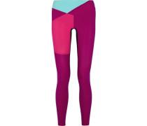 Color-block stretch-jersey leggings