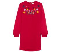 Embellished Silk-crepe Dress Rot