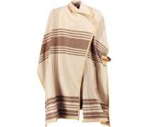 Moniama Leather-trimmed Wool Cape Beige