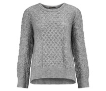 Cable-knit Sweater Grau