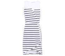 Maine Striped Stretch-jersey Mini Wrap Dress