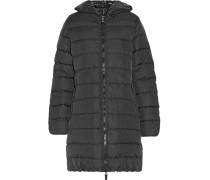Ace Quilted Shell Hooded Down Coat Schwarz