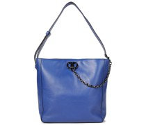 Linton Chain-trimmed Leather Tote