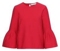 ausgestellter Pullover aus Einer Wollmischung mit Falten