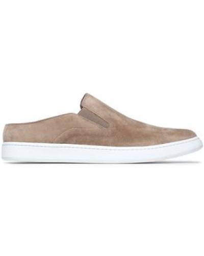Verrell Suede Slip-on Sneakers Mushroom