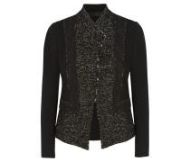 Tweed And Stretch-jersey Jacket Schwarz