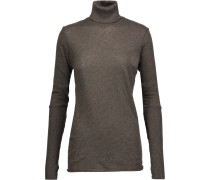 Cotton And Cashmere-blend Turtleneck Sweater Anthrazit