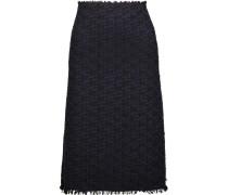 Wool-blend Tweed Skirt Mitternachtsblau