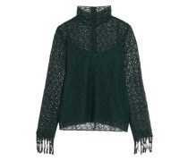 Mia embroidered guipure lace blouse