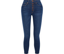 Good Times Cropped High-rise Skinny Jeans