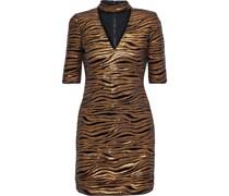 Inka Cutout Sequin-embellished Velvet Mini Dress