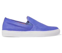 Calf-hair Slip-on Sneakers Lila