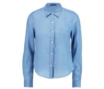 Tianmer Ramie Shirt Blau