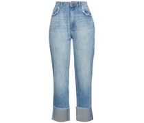 Jerry Hoch Sitzende Cropped Jeans mit Geradem Bein in Distressed-optik