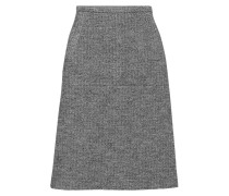 Herringbone Cotton And Wool-blend Skirt Schiefer