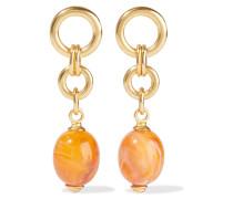 24-karat -plated Stone Earrings