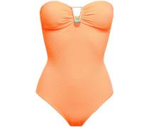 Argentina Embellished Stretch-piqué Bandeau Swimsuit