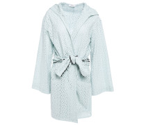 Broderie Anglaise Cotton Hooded Coverup