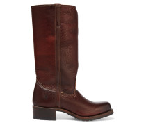 Campus Shearling-lined Leather Boots Dunkelbraun