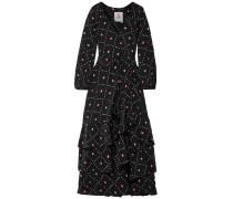Federica Tiered Printed Silk Crepe De Chine Maxi Dress