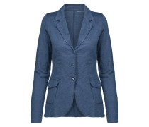 Linen And Silk-blend Blazer Indigo
