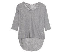 Cape Cotton-blend Top Grau