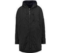Quilted Shell Hooded Coat Schwarz