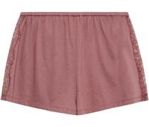 Lissa Pyjama-shorts aus Jersey aus Einer Baumwoll-modalmischung mit Spitzenbesatz