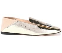 Sr1 Loafers aus Veloursleder und Leder mit Krokodileffekt und Einklappbarer Fersenpartie