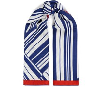 Striped Cashmere And Silk-blend Scarf