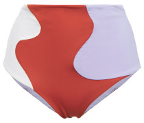 Color-block High-rise Bikini Briefs