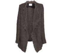 Campbell oversized textured-knit cardigan
