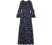 Ruffled Floral-print Fil Coupé Chiffon Maxi Dress