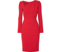 Bitzer Paneled Stretch-crepe Dress Rot