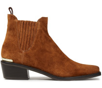 Woman Michelle Suede Ankle Boots Light Brown
