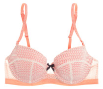 Leise Lace And Stretch-tulle Contour Bra Pastellorange