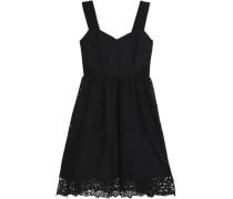 Pleated Giupure Lace Dress Black
