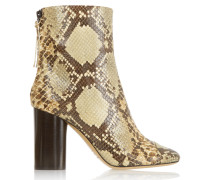 Grover Snake-effect Leather Boots Schlangen-Print