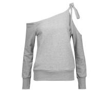 Eddie One-shoulder Cutout Cotton-blend Terry Top Grau